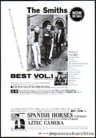 The Smiths 1992/11 Best Vol.1 Japan album promo ad