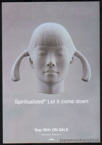 Spiritualized 2001/10 Let It Come Down Japan album promo ad