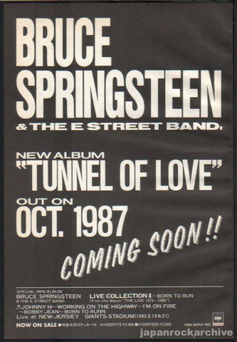 Bruce Springsteen 1987/10 Tunnel of Love Japan album promo ad