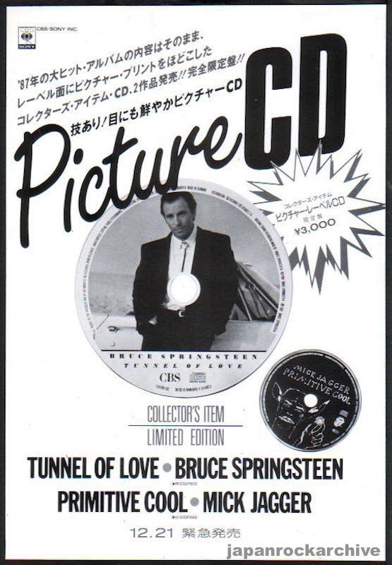 Bruce Springsteen 1988/02 Tunnel Of Love (Picture CD) Japan album promo ad