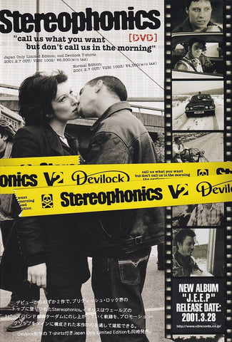 Stereophonics 2001/02 Call Us What You Want But Don't Call Us In The Morning Japan dvd promo ad