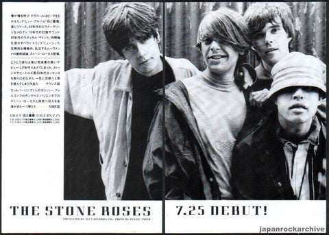 The Stone Roses 1989/08 S/T Japan debut album promo ad