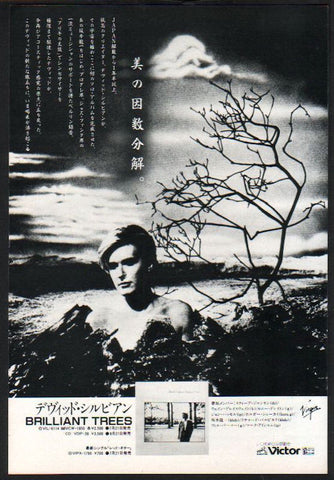 David Sylvian 1984/08 Brilliant Trees Japan album promo ad