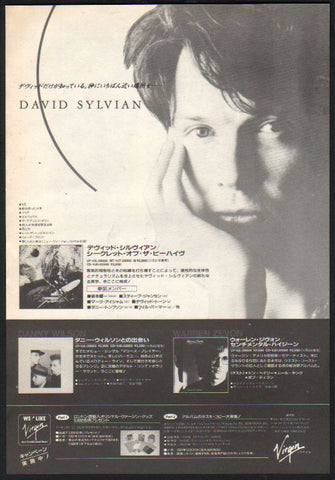 David Sylvian 1987/12 Secrets of The Beehive Japan album promo ad