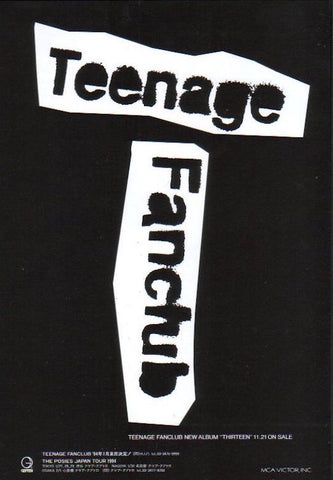 Teenage Fanclub 1993/11 Thirteen Japan album promo ad
