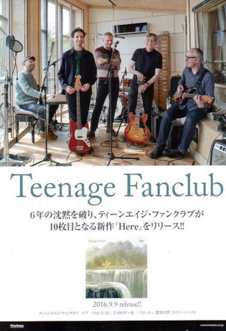 Teenage Fanclub 2016/10 Here Japan album promo ad