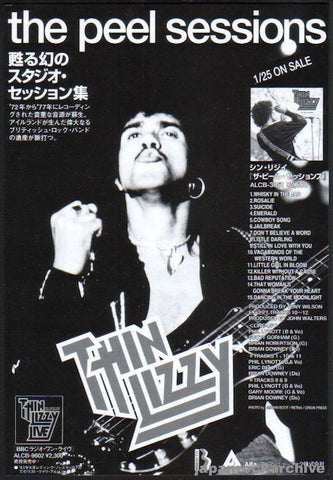 Thin Lizzy 1995/02 The Peel Sessions Japan album promo ad