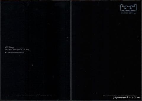Tool 2001/06 Lateralus Japan album promo ad