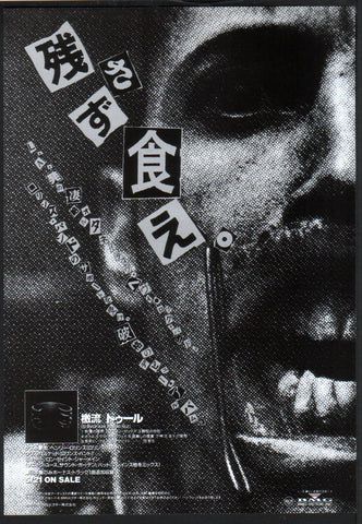 Tool 1993/07 Undertow Japan album promo ad