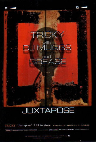 Tricky 1999/08 Juxtapose Japan album / tour promo ad