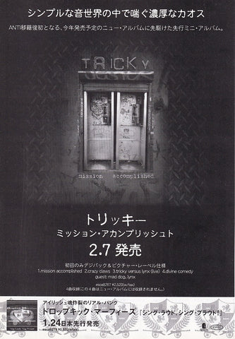 Tricky 2001/02 Mission Accomplished Japan album promo ad
