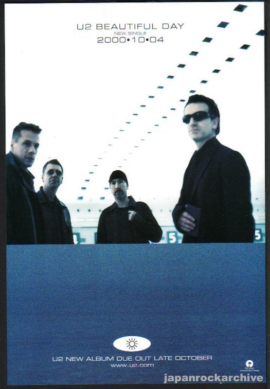 U2 2000/10 Beautiful Day single Japan  promo ad