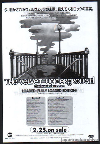 The Velvet Underground 1997/03 (Fully Loaded Edition) Japan album promo ad