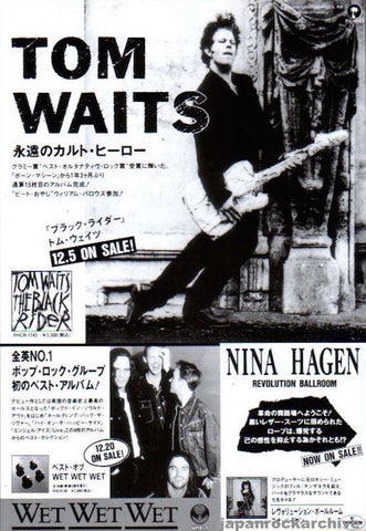 Tom Waits 1994/01 The Black Rider Japan album promo ad