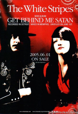 The White Stripes 2005/06 Get Behind Me Satan Japan album promo ad