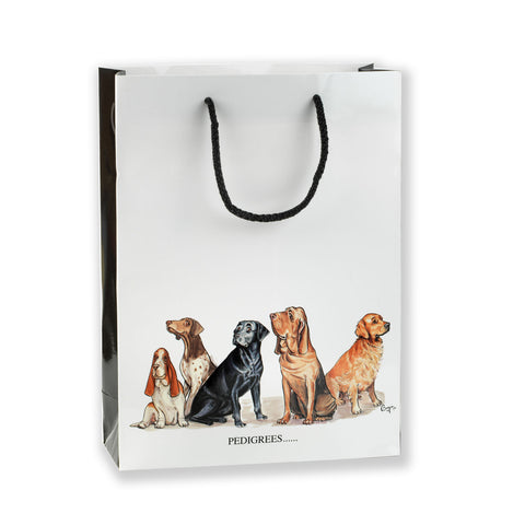 Medium Gift Bag - Pedigrees & Chum by Bryn Parry