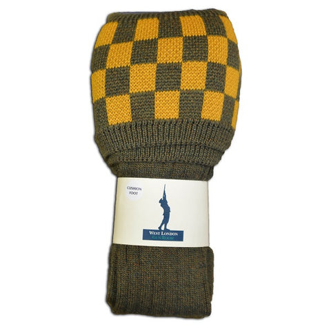West London Gun Room Bracken New Mustard Socks