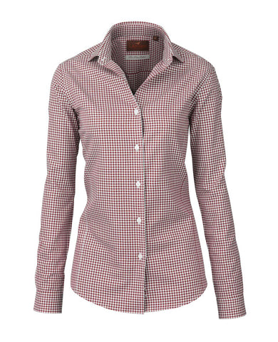 Laksen Ann Pin Point Rosewood Shirt