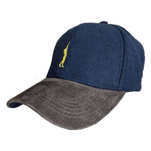 West London Shooting School Suede and Melton Baseball Cap
