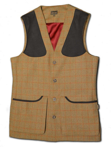 West London Shooting School Tweed Shooting Vest