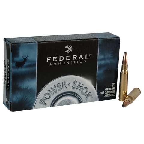 Federal -  .222 REM 55Grn Power Shock Soft Point