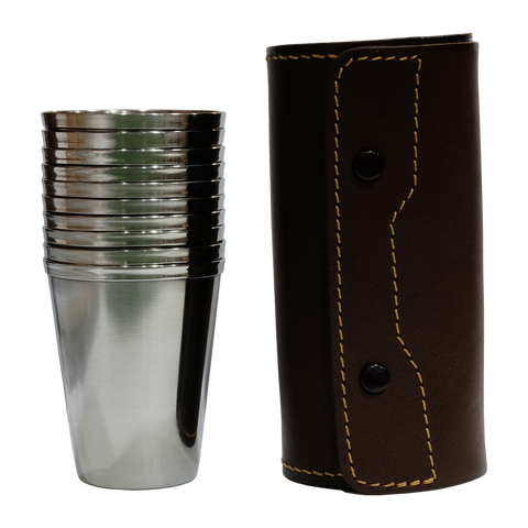 Beier Stainless Steel Cup Set and Case