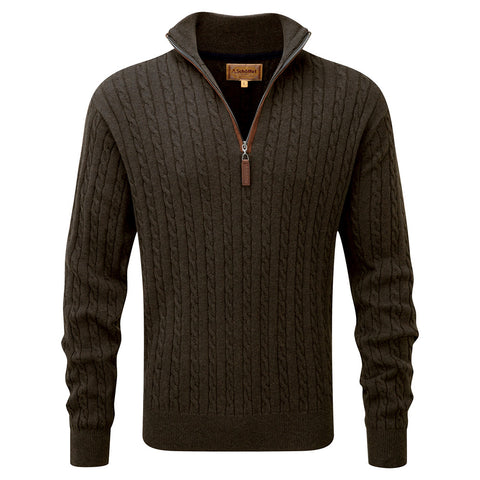 Schoffel Cotton/Cashmere Cable 1/4 Zip Jumper