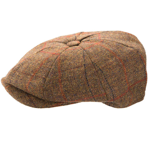 Christy's 8 Piece Baker Boy Tweed Cap