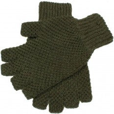 Dents Lanber Tuckstitch Half Finger Shooting Gloves - Olive