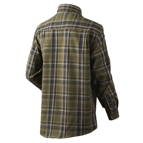 Seeland Parkin Children's Shirt - Shaded Olive Check