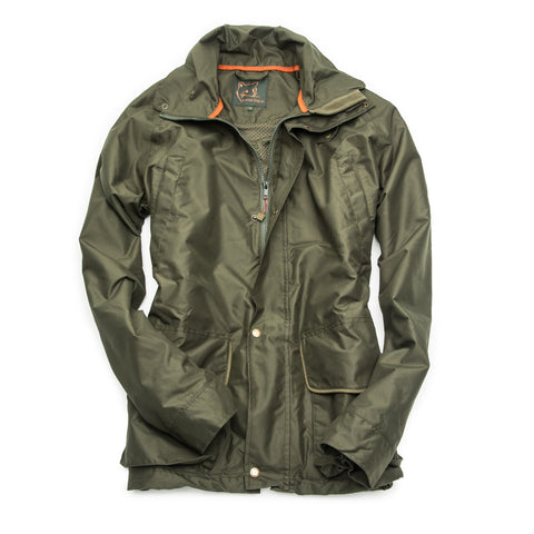 John Field Rain Ladies Jacket- Forrest Green