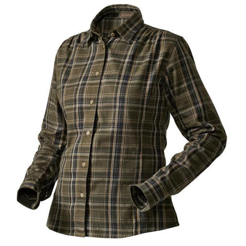 Seeland Vicka Shirt - Shaded Olive Check