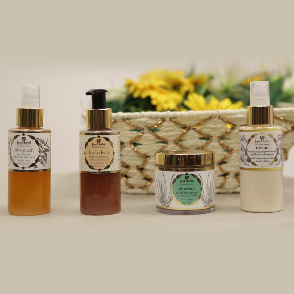 4 Step Skin Care Set for Combination and Oily Skin