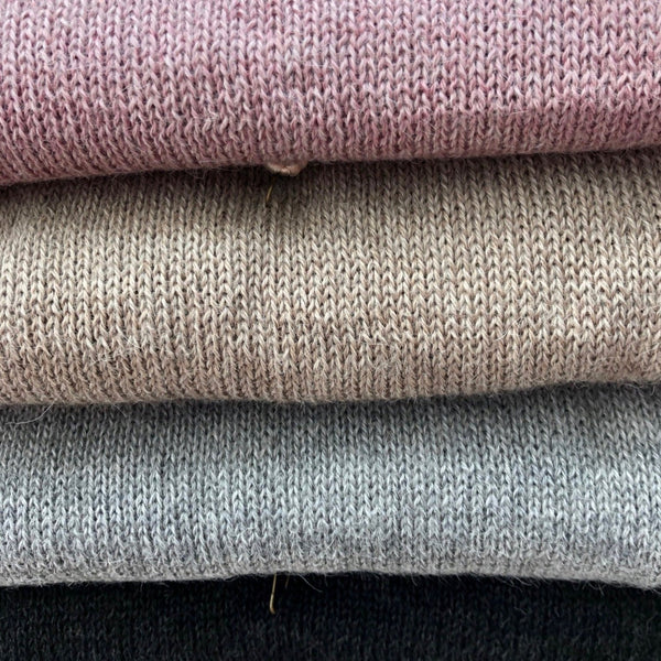 Pink,beige,light grey and dark grey alpaca scarves