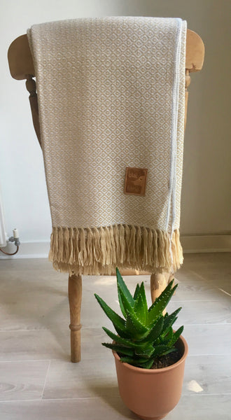 Chaska alpaca throw - bluellamashop
