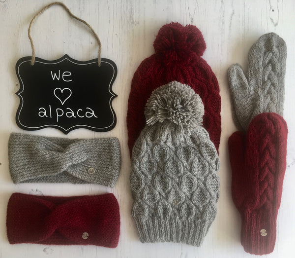 hand knitted alpaca accessories