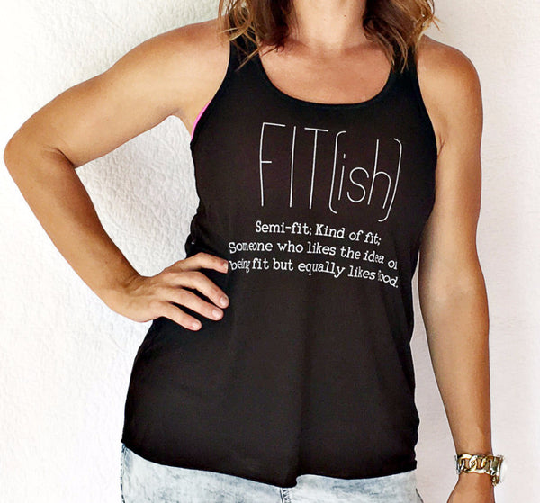 FIT(ish) Black Flowy Women's Tank