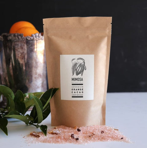 Geranium, Orange & Cacao Bath Soak 250gm