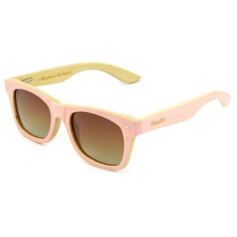 1bc7aa0688c Sale PINK BAMBOO WOOD SUNGLASSES
