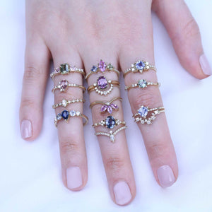 New ring collection, sapphire gold  rings, anvehu jewelrygemstone engagement rings