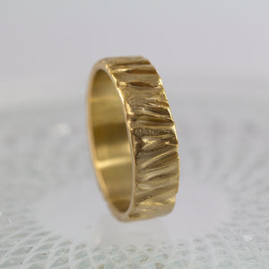 Alon Men's Wedding Ring, 14k 18k Gold, Anvehu Jewelry