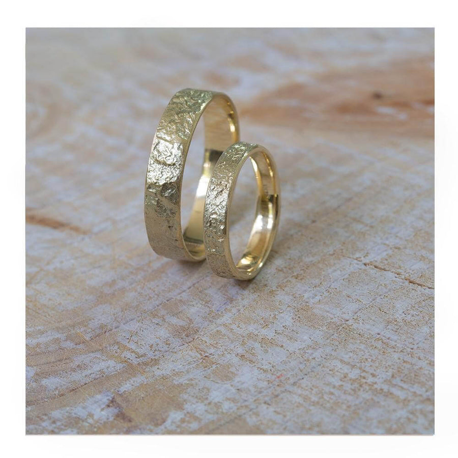 Rustic Gold Bands, 5mm, 3mm