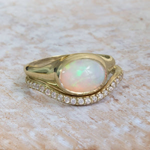 Noa - Opal wedding Set
