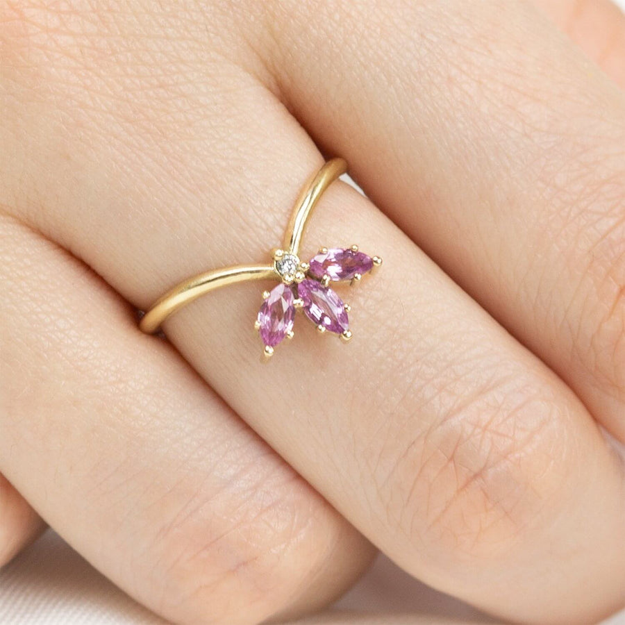 Jasmine Flower Crown Ring