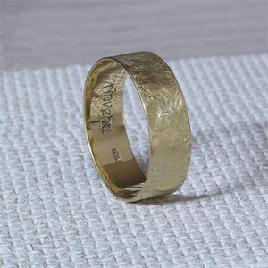 Male Wedding Ring, 7mm Organic Band, Anvehu Jewelry