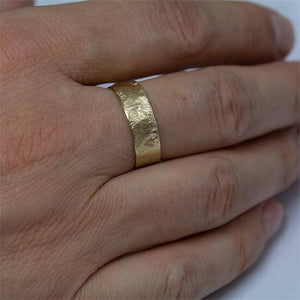 Organic Wedding Band For Men, Anvehu Jewelry