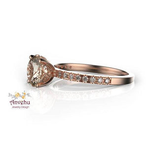 Rachel 2-Morganite Ring