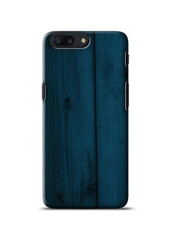 Blue Wooden Oneplus Five Case