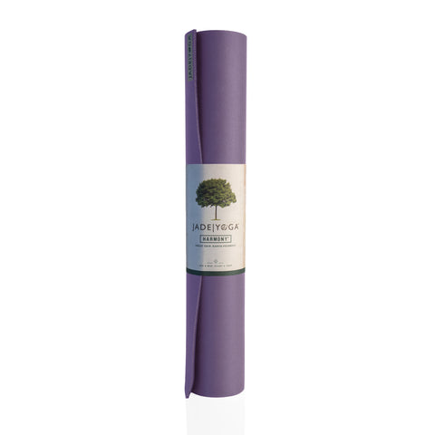 JADE HARMONY TWO TONES YOGA MAT - LAVENDER / DARK PURPLE