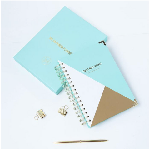 THE HAPPINESS PLANNER 52 WEEK JOURNAL MINT